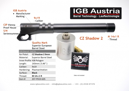 CZ Shadow 2 9mm - IGB Gewindelauf